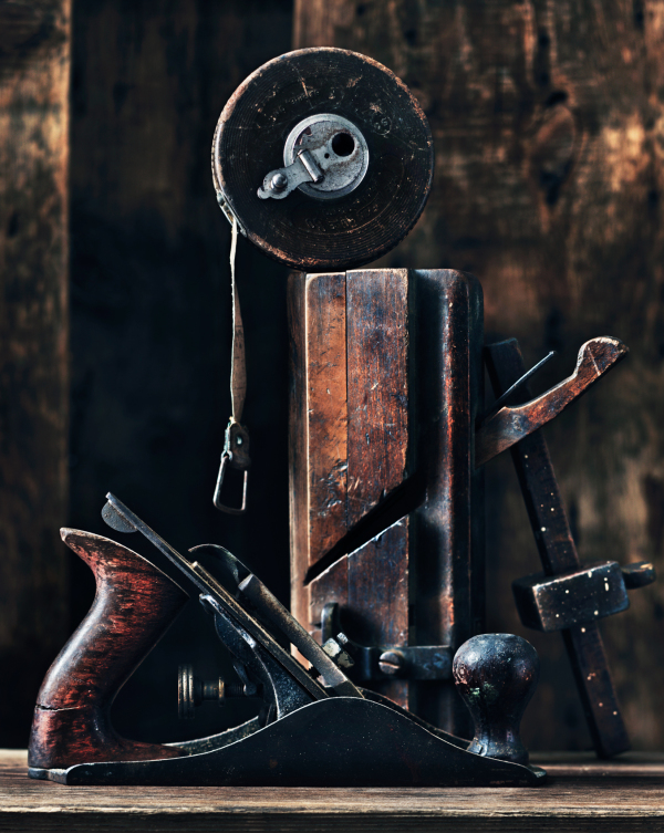 Vintage antique tools still life