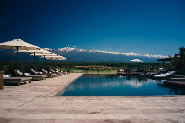 pool patio resort in argentina south america travel tourism