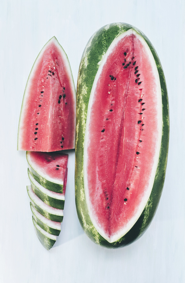 watermelon seeded red summer fruit sliced