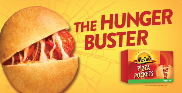 hunger buster mccain pizza pockets pepperoni and cheese