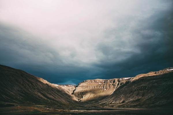 nature landscape in iceland mountain valley