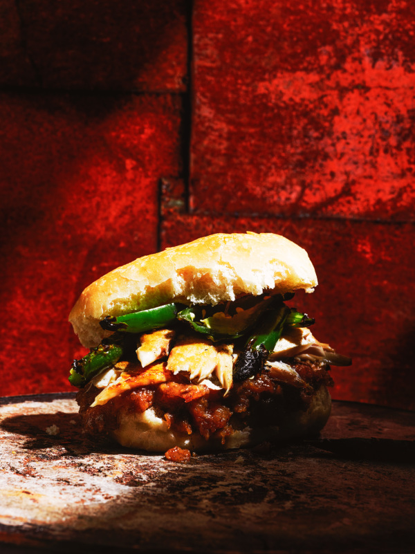 Creative with Christopher St. Onge burger with chutney