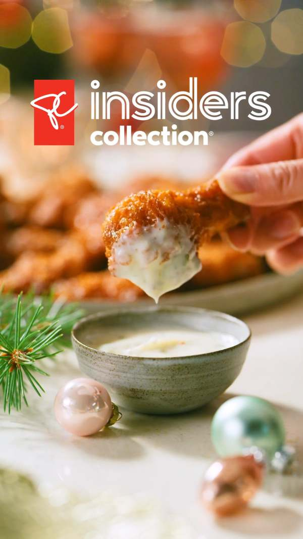 chicken wings and dip with gift