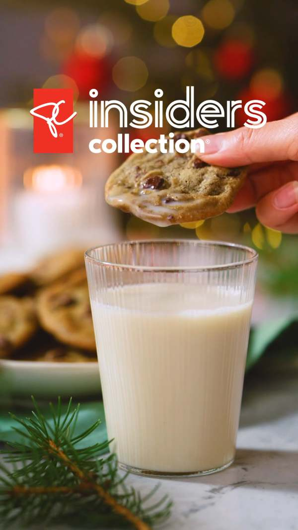 Milk and cookies with gifts