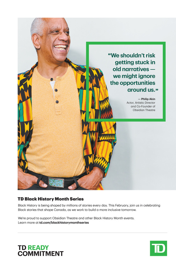 advertisement - TD bank celebrates black history month with philip akin