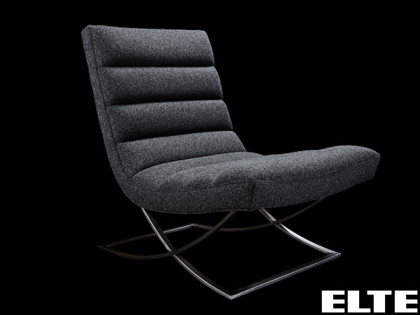 a soft cushioned grey chair from ELTE