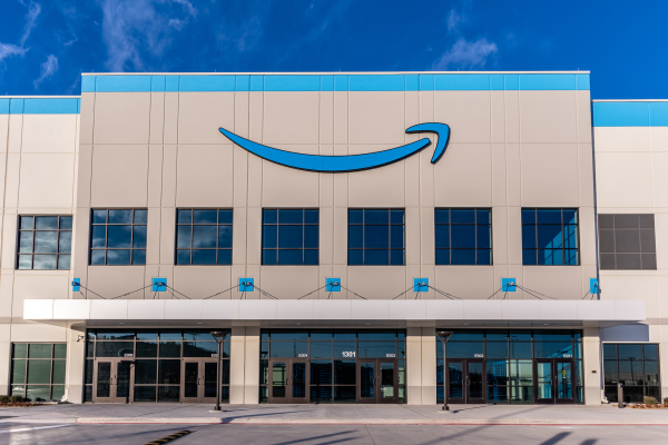 front facing entrance of an amazon building