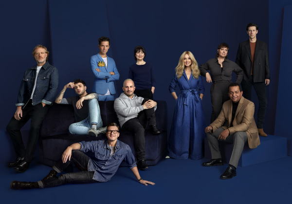Group shot for Star Académie on blue background